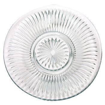 ELEGANT CUT-GLASS DINNER PLATE