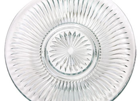 ELEGANT CUT-GLASS DINNER PLATE