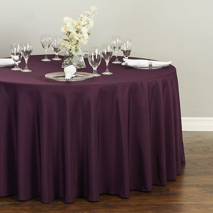 PLUM POLYESTER TABLECLOTHS