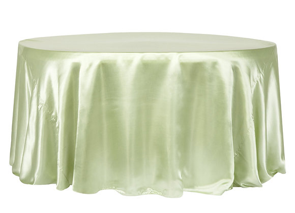 SAGE GREEN BRIDAL SATIN TABLECLOTHS