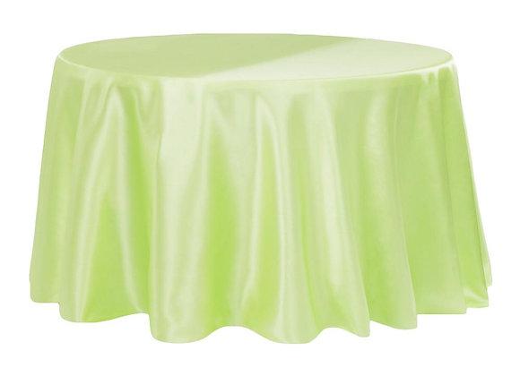 APPLE GREEN BRIDAL SATIN TABLECLOTHS