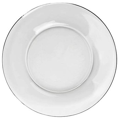 CLEAR GLASS DINNER PLATE