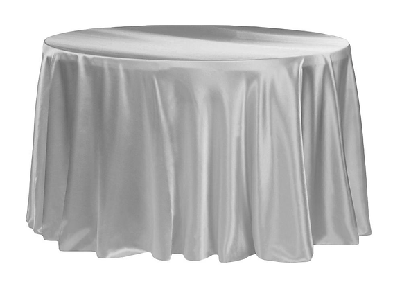 SILVER SATIN TABLECLOTHS
