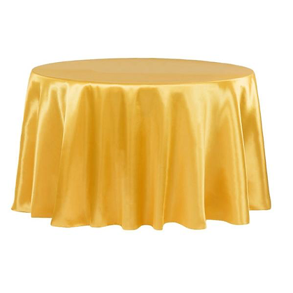 GOLD LAMOUR SATIN TABLECLOTHS
