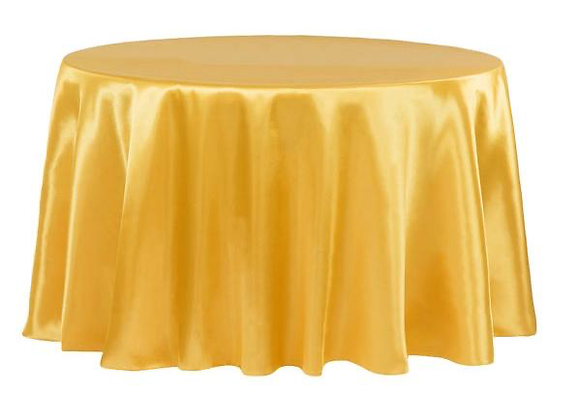 GOLD BRIDAL SATIN TABLECLOTHS