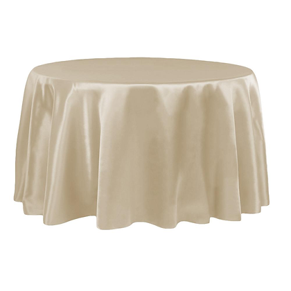 CHAMPAGNE LAMOUR SATIN TABLECLOTHS