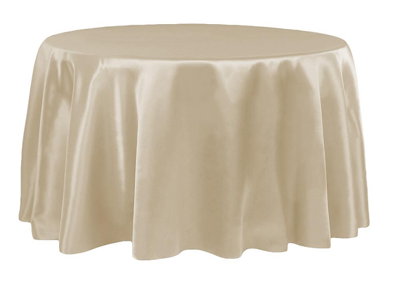 CHAMPAGNE BRIDAL SATIN TABLECLOTHS