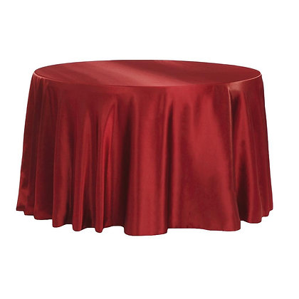 BURGUNDY LAMOUR SATIN TABLECLOTHS