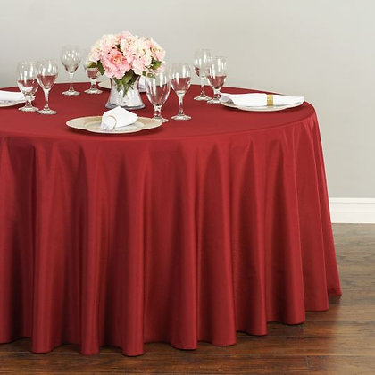 BURGUNDY POLYESTER TABLECLOTHS