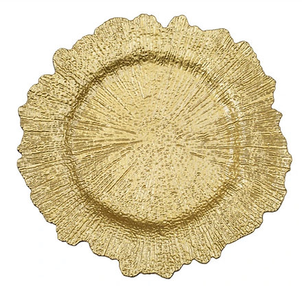 GOLD ACRYLIC REEF CHARGER PLATE