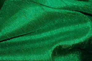 GREEN SHANTUNG SATIN