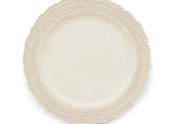 CREAM LACE DINNER PLATE