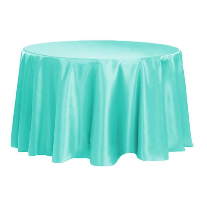 TURQUOISE LAMOUR SATIN TABLECLOTHS