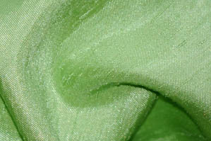 LIME SHANTUNG SATIN