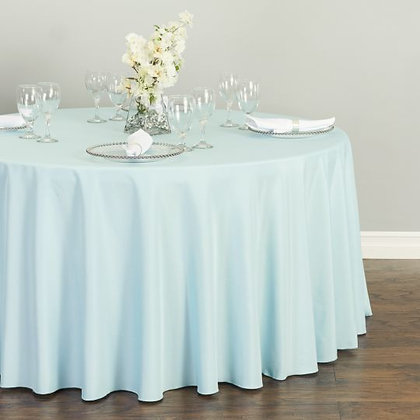 BABY BLUE POLYESTER TABLECLOTHS