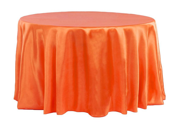 ORANGE BRIDAL SATIN TABLECLOTHS