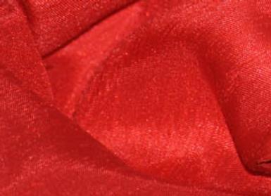RED SHANTUNG SATIN