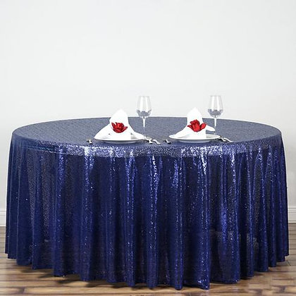 NAVY SEQUIN TABLECLOTHS
