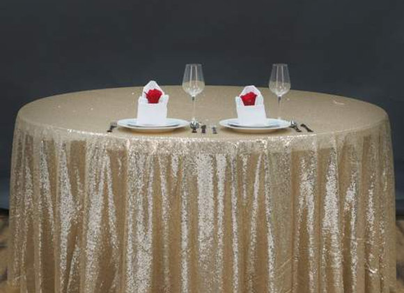 CHAMPANGE SEQUIN TABLECLOTHS