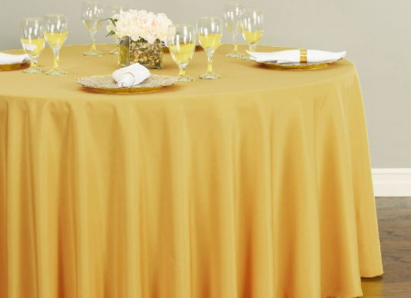 GOLD POLYESTER TABLECLOTHS