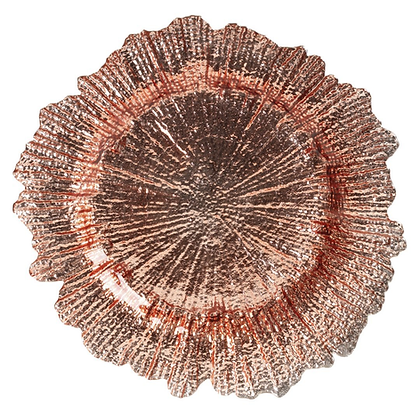 ROSE GOLD REEF GLASS CHARGER PLATE
