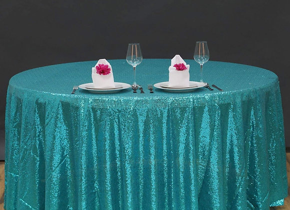 TURQUOISE SEQUIN TABLECLOTHS