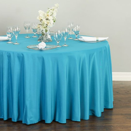 CARIBBEAN BLUE POLYESTER TABLECLOTHS