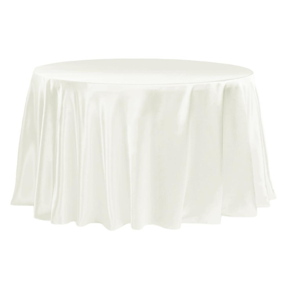 IVORY LAMOUR SATIN TABLECLOTHS