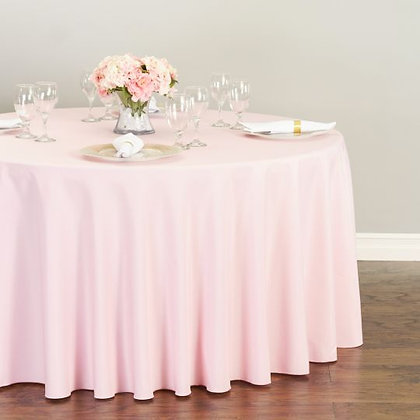 PINK POLYESTER TABLECLOTHS
