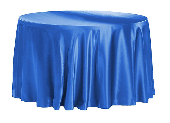 ROYAL BLUE BRIDAL SATIN TABLECLOTHS