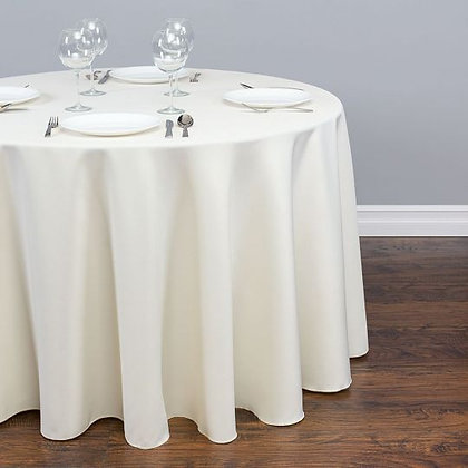 IVORY POLYESTER TABLECLOTHS