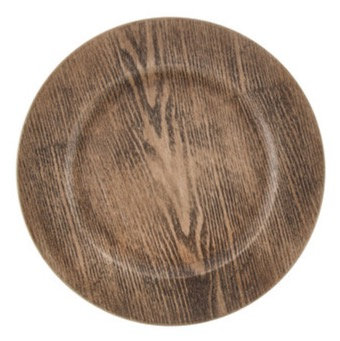 FAUX WOOD ACRYLIC CHARGER PLATE