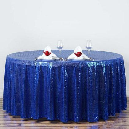 ROYAL BLUE SEQUIN TABLECLOTHS
