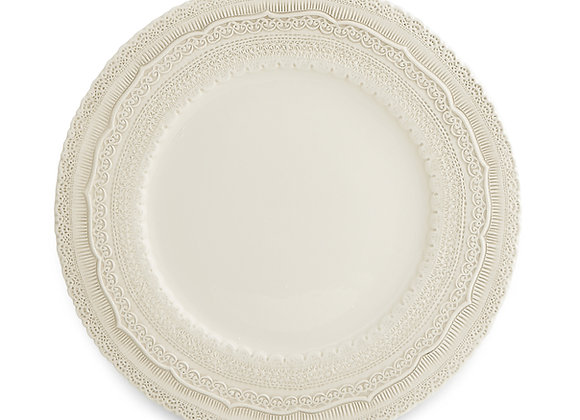 CREAM LACE CHARGER PLATE