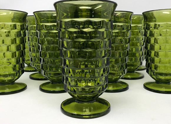 AVOCADO GREEN VINTAGE TEA GLASS