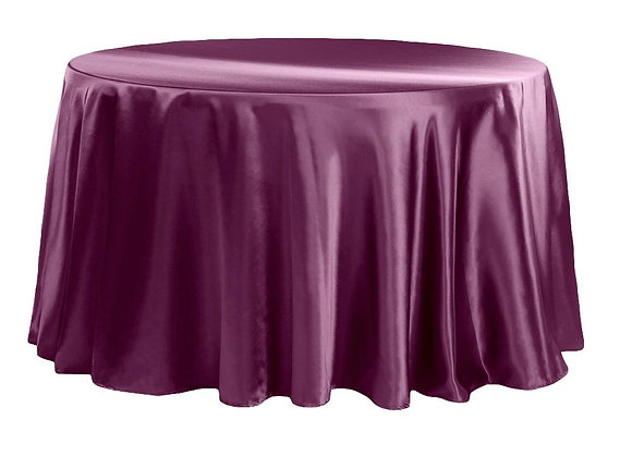 WINE BRIDAL SATIN TABLECLOTHS