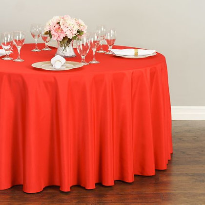 RED POLYESTER TABLECLOTHS