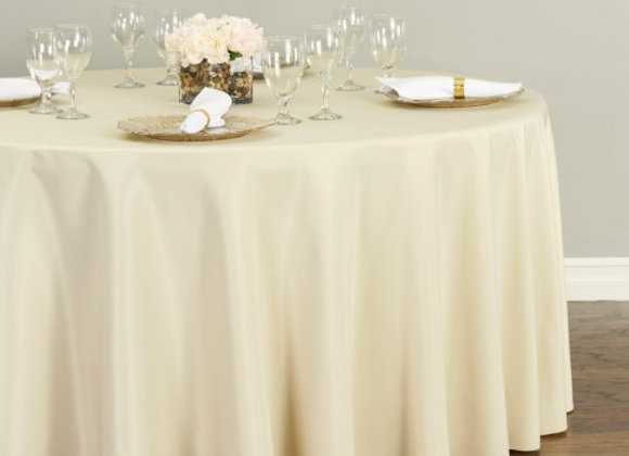 CHAMPAGNE POLYESTER TABLECLOTHS