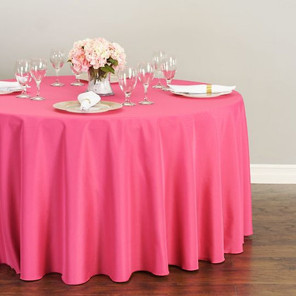 FUCHSIA POLYESTER TABLECLOTHS