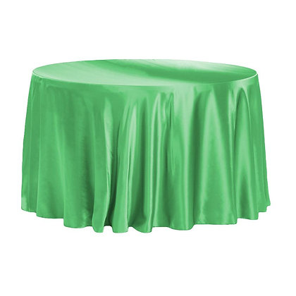 KELLY GREEN LAMOUR SATIN TABLECLOTHS