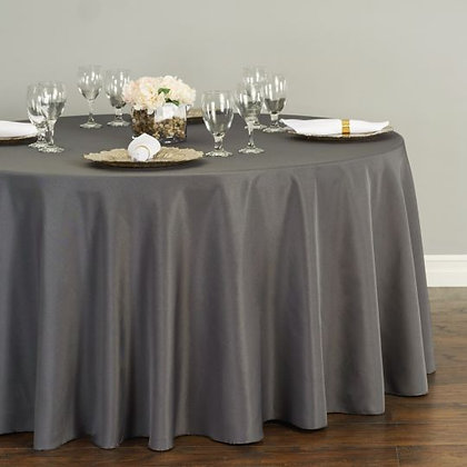 CHARCOAL POLYESTER TABLECLOTHS