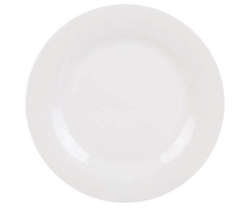 WHITE CERAMIC SALAD PLATE