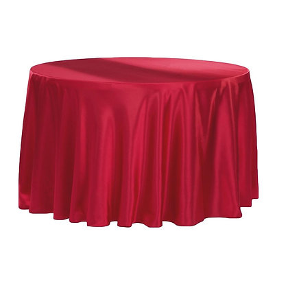 APPLE RED LAMOUR SATIN TABLECLOTHS