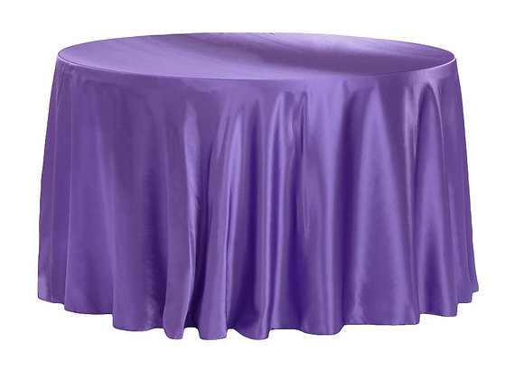 PURPLE BRIDAL SATIN TABLECLOTHS