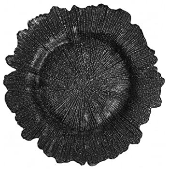 BLACK REEF GLASS CHARGER PLATE
