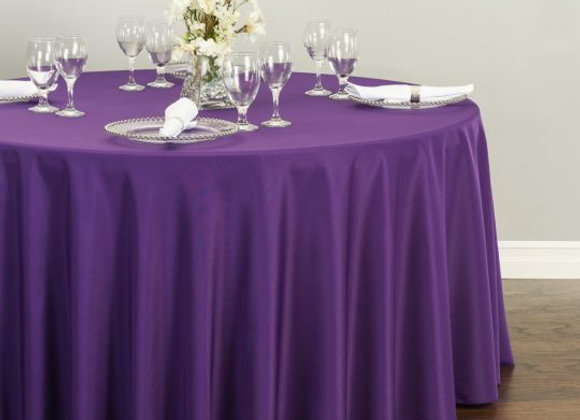 PURPLE POLYESTER TABLECLOTHS