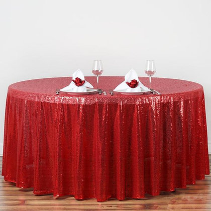 RED SEQUIN TABLECLOTHS