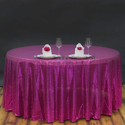 FUCHSIA SEQUIN TABLECLOTHS