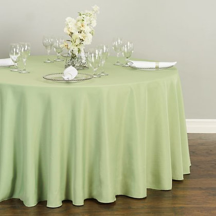 SAGE POLYESTER TABLECLOTHS
