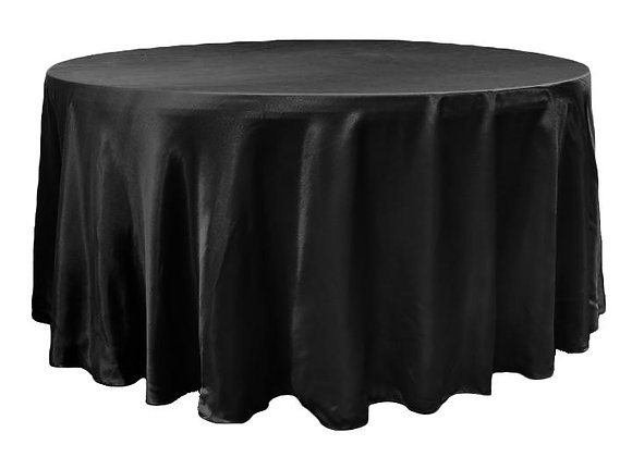 BLACK BRIDAL SATIN TABLECLOTHS